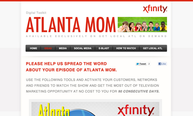 Atlanta Moms Website Design