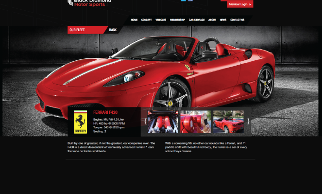 Black Diamond Motorsports Website