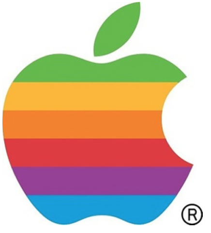 the old apple logo brand
