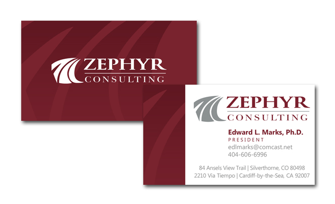 Business card for consulting firm black bear design for Business design consultant