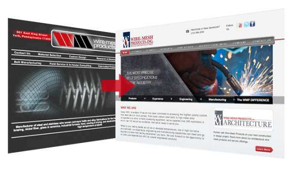 wire mesh case study web redesign