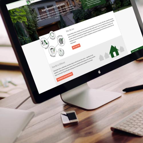 Property Renovation Website Design atlanta web design