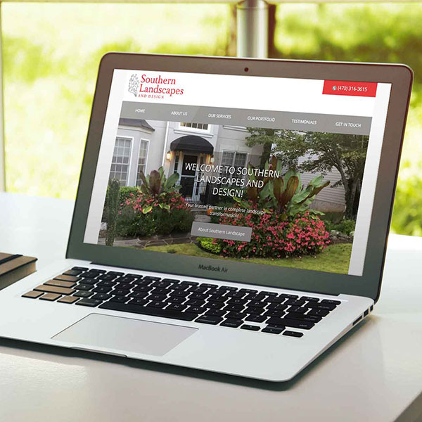 Landscape Company Website Design atlanta web design