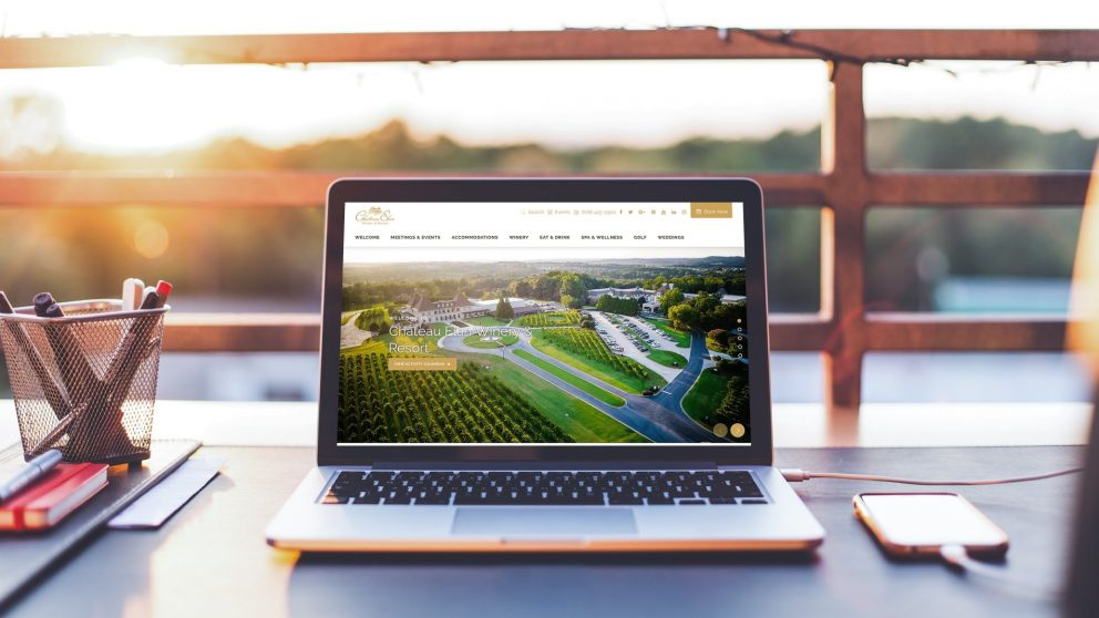 resort spa website redesign