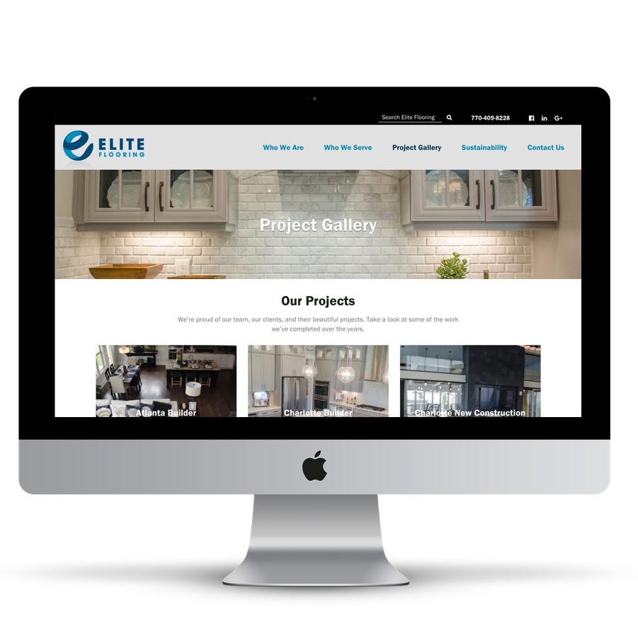 Product Showcase Website atlanta web design