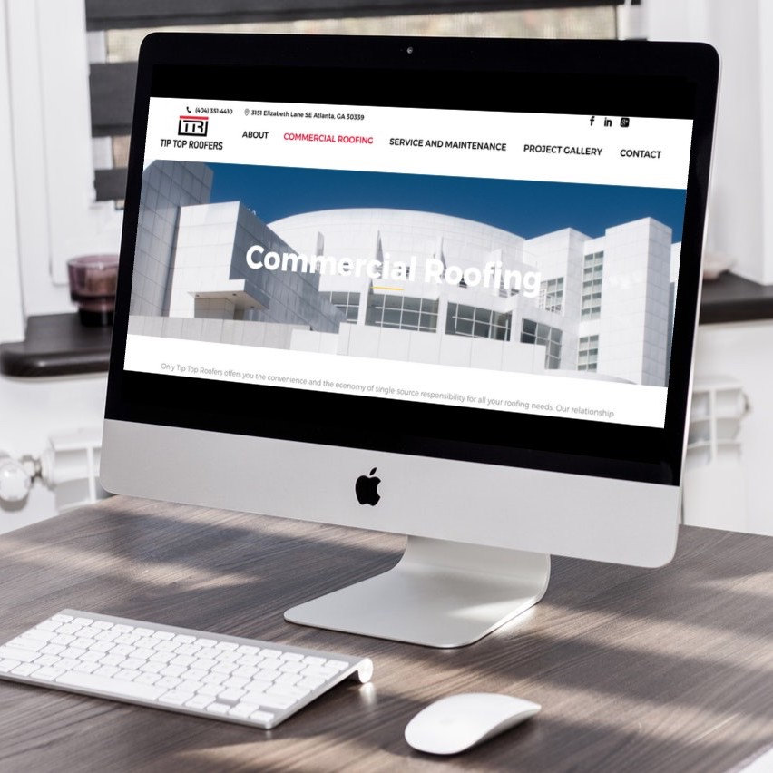 Roofing Company Website Design atlanta web design