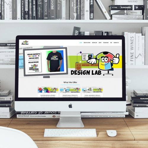 t shirt website redesign
